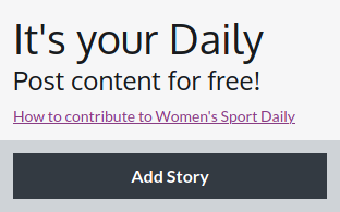 Women's Sport - Your Daily pane with add story button